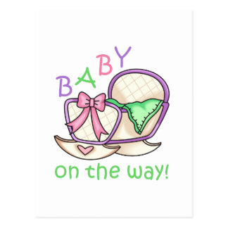 ¡Bebé en la manera! Postal
