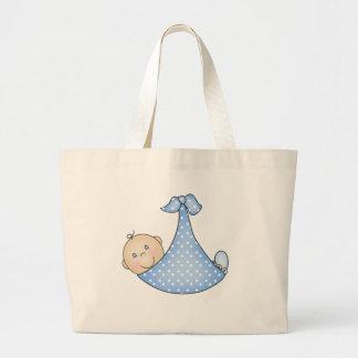 Bebé en manta bolsa tela grande