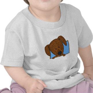 Bebé enmarcado del perro de Plott del dibujo Camisetas