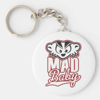 Bebé ENOJADO de MadBadger Llavero Redondo Tipo Pin