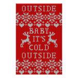 """Bebé es estilo feo del rojo del suéter del folleto 5.5"""" x 8.5"""""""