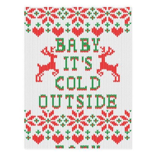 Bebé es estilo feo del suéter del exterior frío postal