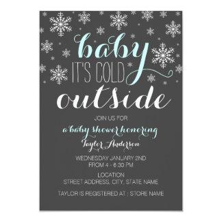 """Bebé es exterior frío - la fiesta de bienvenida al invitación 5"""" x 7"""""""