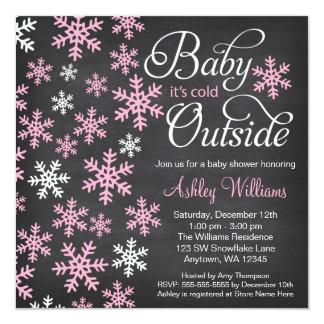 """Bebé es fiesta de bienvenida al bebé exterior fría invitación 5.25"""" x 5.25"""""""