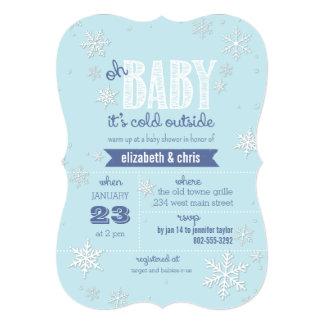 """Bebé es fiesta de bienvenida al bebé exterior fría invitación 5"""" x 7"""""""