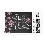Bebé es fiesta de bienvenida al bebé exterior fría sello