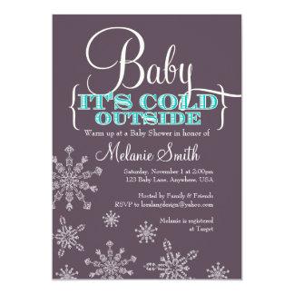 Bebé es invitación exterior fría de la fiesta de