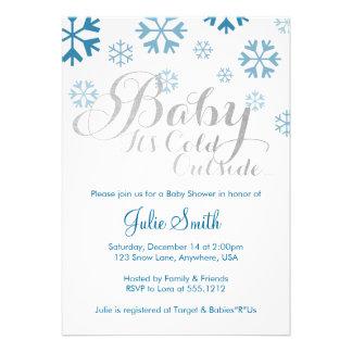 Bebé es invitación exterior fría de la fiesta de b