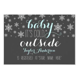 """Bebé es parte movible exterior frío del registro invitación 3.5"""" x 5"""""""