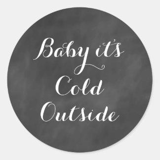 Bebé es pegatina exterior frío