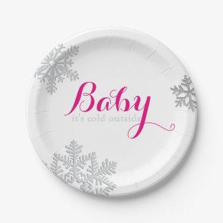 Bebé es placas exteriores frías plato de papel de 7 pulgadas