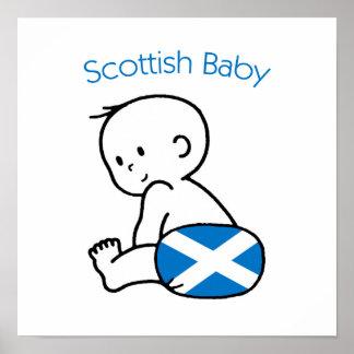 Bebé escocés poster