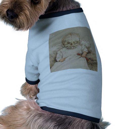 Bebé esquelético camiseta con mangas para perro