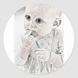Bebé extranjero 4 de YouMa Pegatina Redonda
