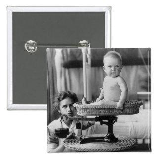 Bebé Fat, 1912 Pin Cuadrada 5 Cm
