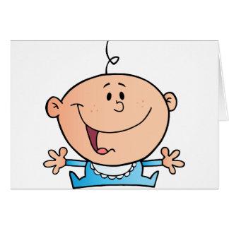 Bebé feliz tarjeta de felicitación
