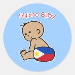 Bebé filipino pegatina redonda