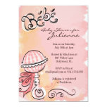 "Bebe - French Inspiried Baby Shower Invite 5"" X 7"" Invitation Card"