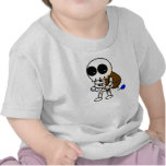 Bebé fresco del esqueleto de Halloween Camisetas