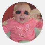 bebé fresco fresco etiquetas redondas