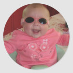 bebé fresco fresco pegatina redonda