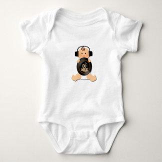 Bebé futuro de DJ con los auriculares Body Para Bebé