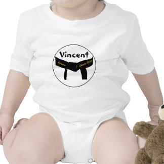 Bebé futuro de encargo de la correa negra de los a trajes de bebé