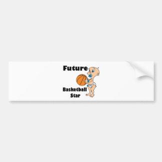 bebé futuro de la estrella del baloncesto pegatina para auto