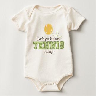Bebé futuro del compinche del tenis del papá mamelucos