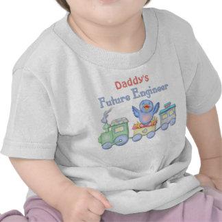 Bebé futuro del ingeniero del Bluebird del tren de Camiseta