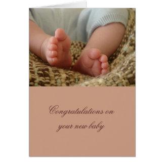 Bebé genérico tarjeta de felicitación
