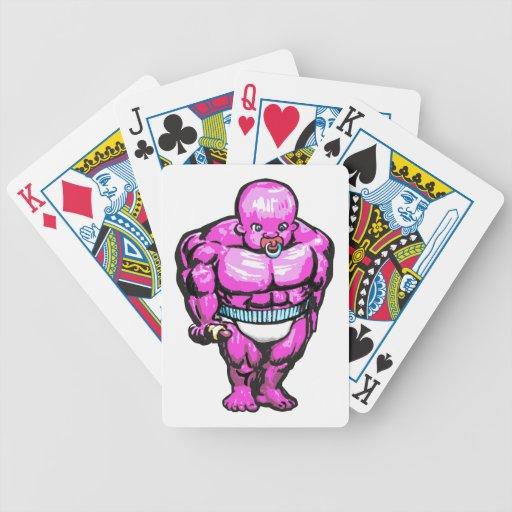 Bebé gigante del músculo baraja de cartas