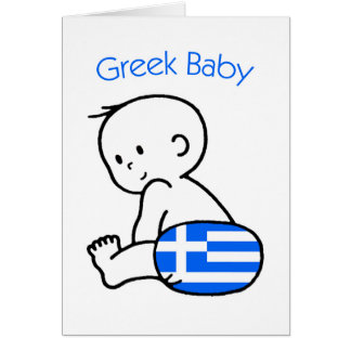 Bebé griego tarjeta de felicitación