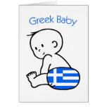 Bebé griego tarjeton