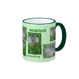Bebé Groundhog/taza de la marmota