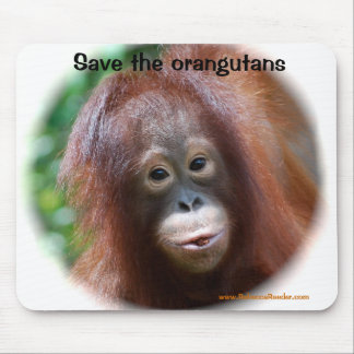 Bebé hermoso del orangután alfombrillas de raton