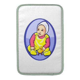 bebé humano con el óvalo azul yellow png del pollu fundas MacBook