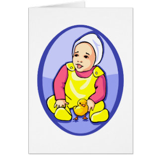 bebé humano con el óvalo azul yellow.png del tarjeta pequeña