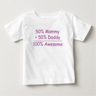 bebé impresionante del papá el 100% de la mamá el remeras