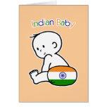 Bebé indio felicitacion