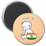Bebé indio imanes de nevera