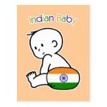 Bebé indio tarjetas postales