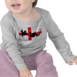 Bebé inglés de la bandera del día de San Jorge Camisetas