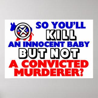 ¿Bebé inocente o asesino condenado? Impresiones
