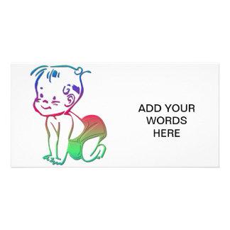 Bebé (invitación/recuerdos del nacimiento) tarjeta fotografica personalizada