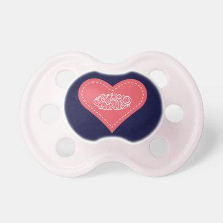 Bebé islámico del rojo del corazón del basmallah d chupetes de bebé