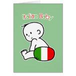 Bebé italiano felicitación