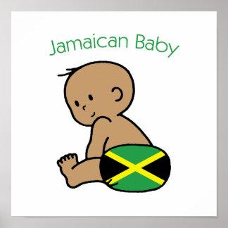 Bebé jamaicano poster