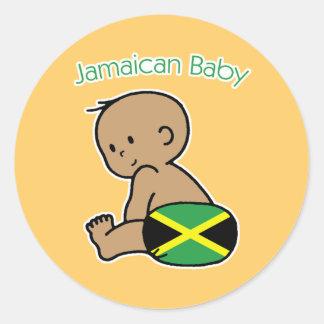 Bebé jamaicano pegatina redonda