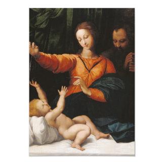 """Bebé Jesús de Maria de la madre Invitación 5"""" X 7"""""""
